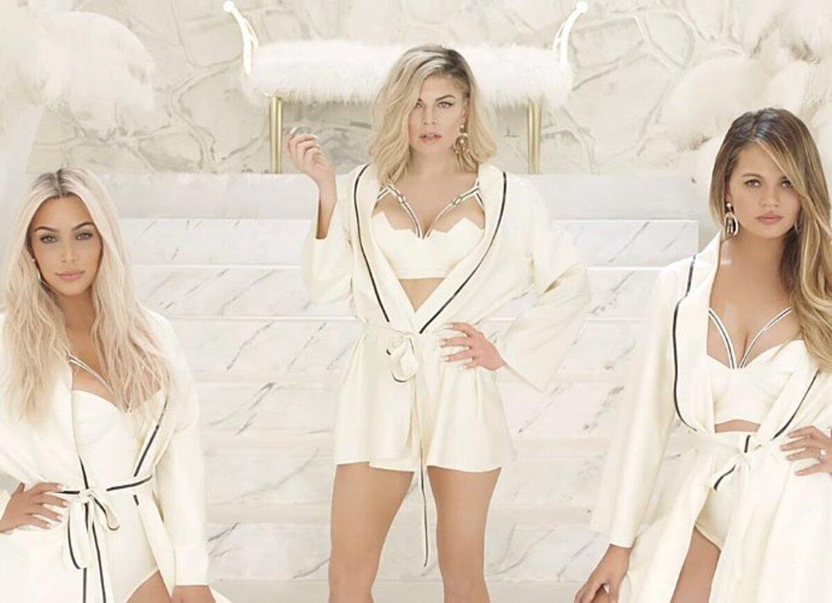 Ферги представила новый клип с Ким Кардашьян и Крисси Тейген