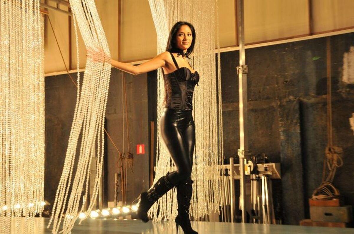 Николь Шерзингер на съемках ролика для C&A Collection