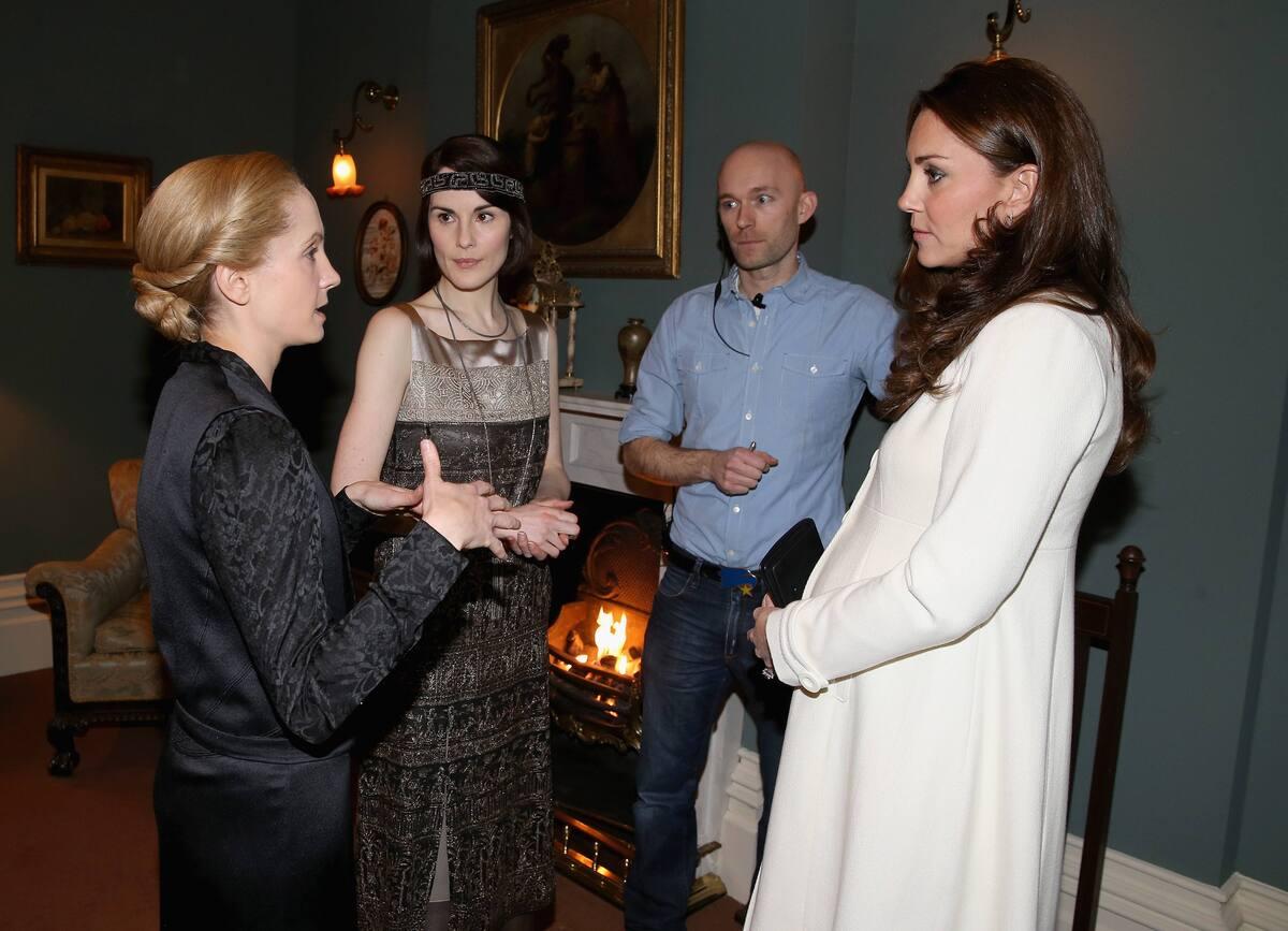 Кейт Миддлтон побывала на съемочной площадке фильма «Аббатство Даунтон»