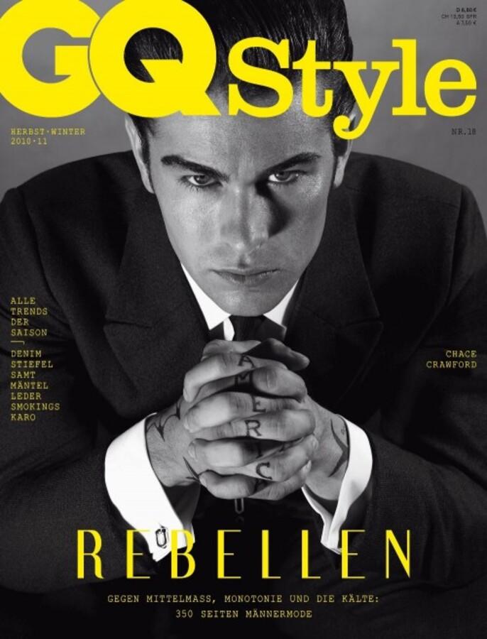 Чейс Кроуфорд в журнале GQ Style. 2010