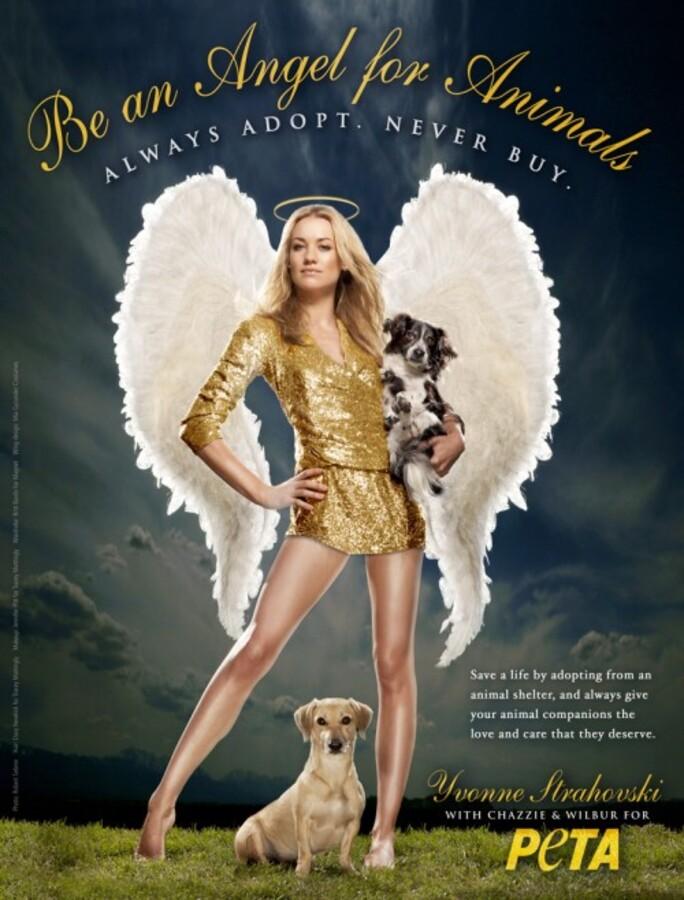Ивонн Страховски присоединилась к компании PETA