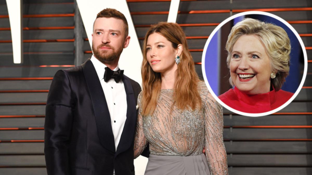Джастин Тимберлейк устроил прием в честь Хилари Клинтон