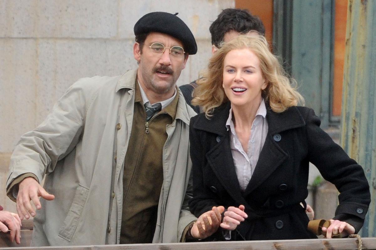 """Николь Кидман и Клайв Оуэн на съемках фильма """"Хемингуэй и Геллхорн"""""""