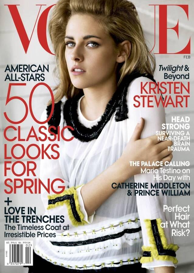 Кристен Стюарт в журнале Vogue US. Февраль 2011