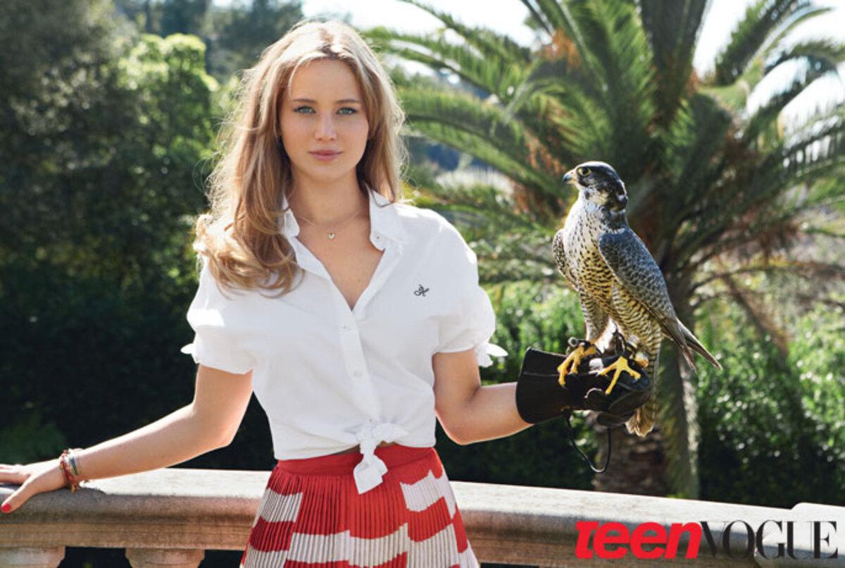 Дженнифер Лоуренс в журнале TeenVogue. Май 2011