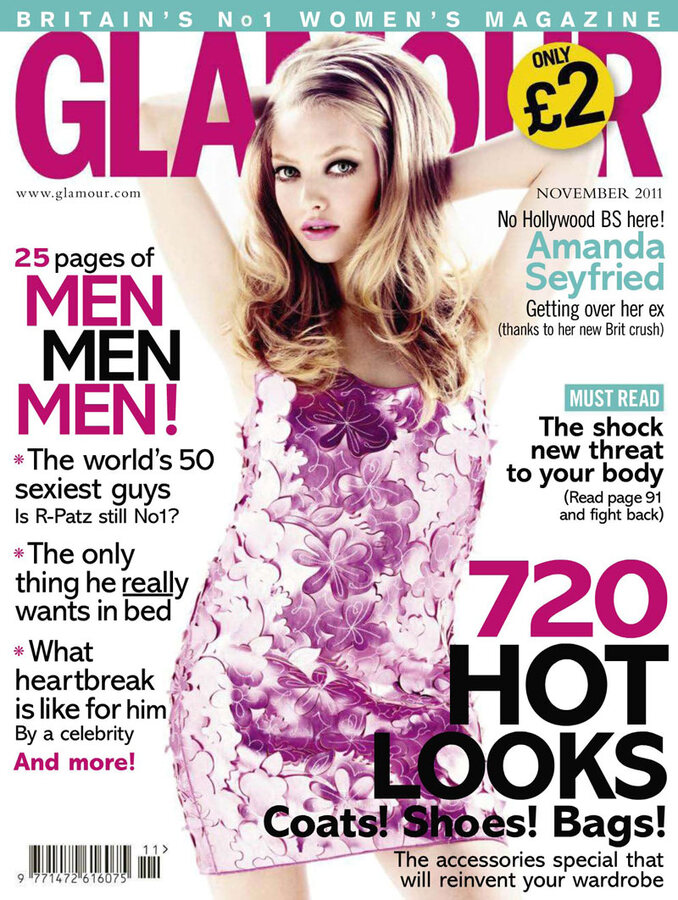 Аманда Сейфрид в журнале Glamour UK. Ноябрь 2011