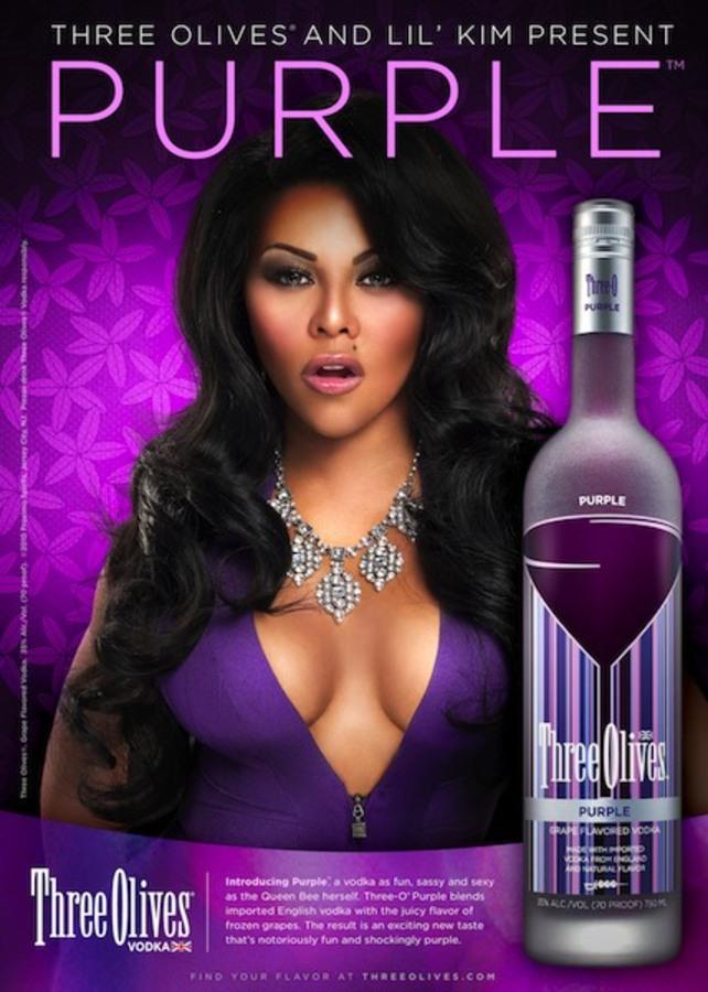 Лил Ким рекламирует водку