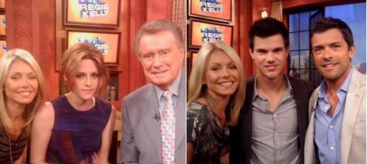 Кристен Стюарт и Тэйлор Лотнер побывали в гостях у Regis & Kelly