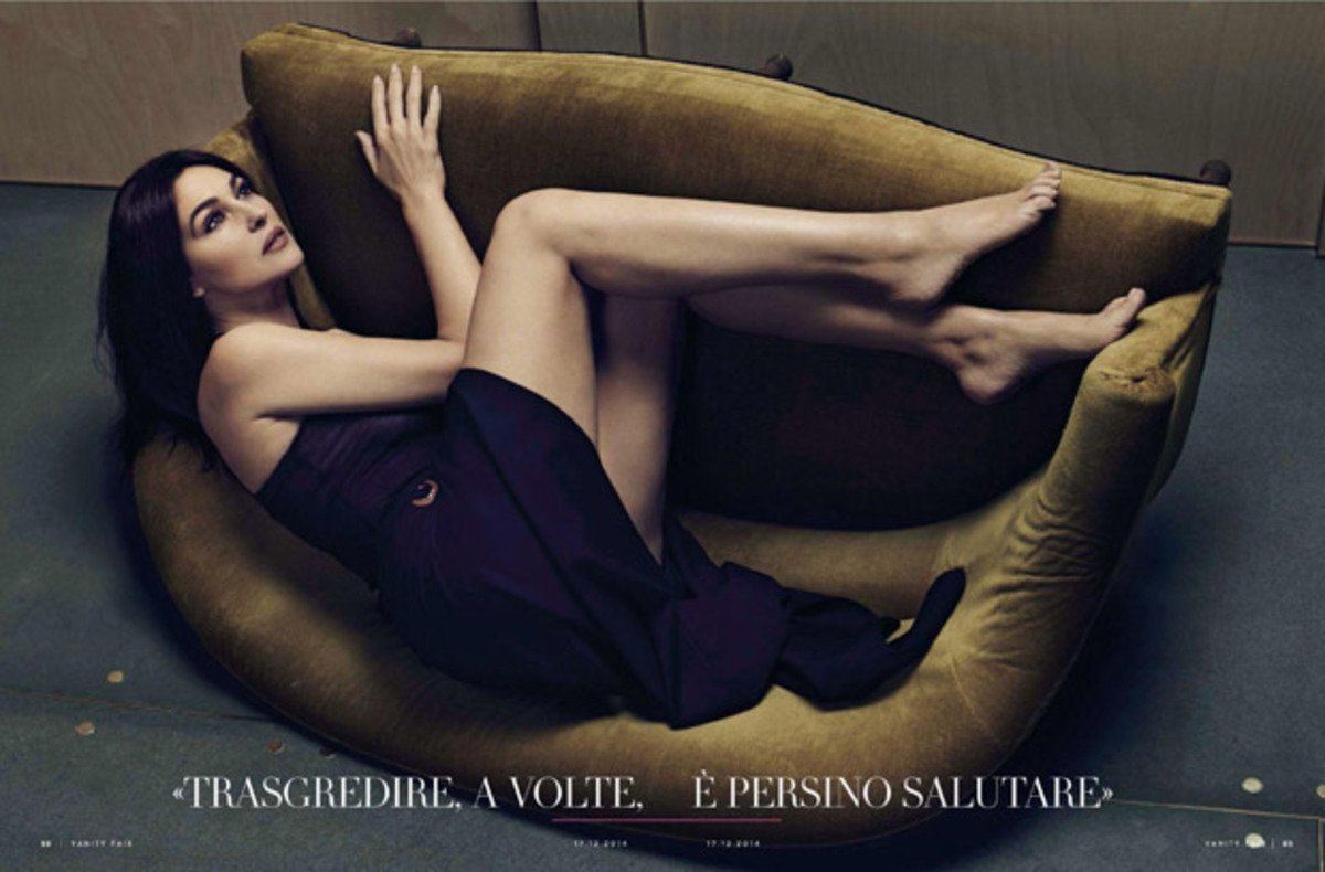 Моника Беллуччи в журнале Vanity Fair Италия. Декабрь 2014