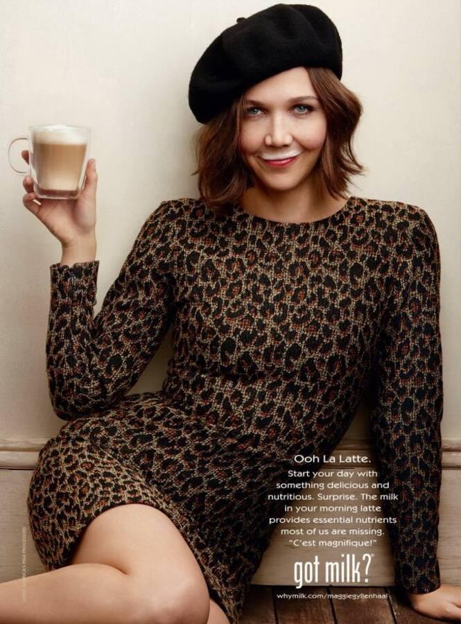 Мэгги Джилленхол в рекламе «Got Milk?»