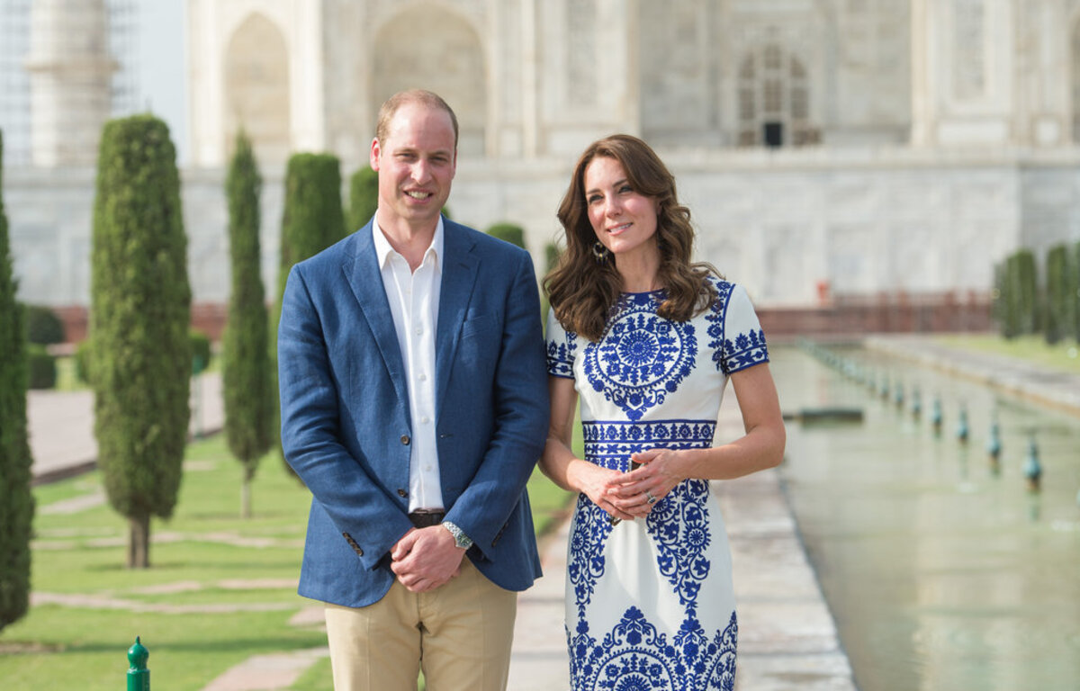 Принц Уильям и Кейт Миддлтон побывали в Тадж-Махале