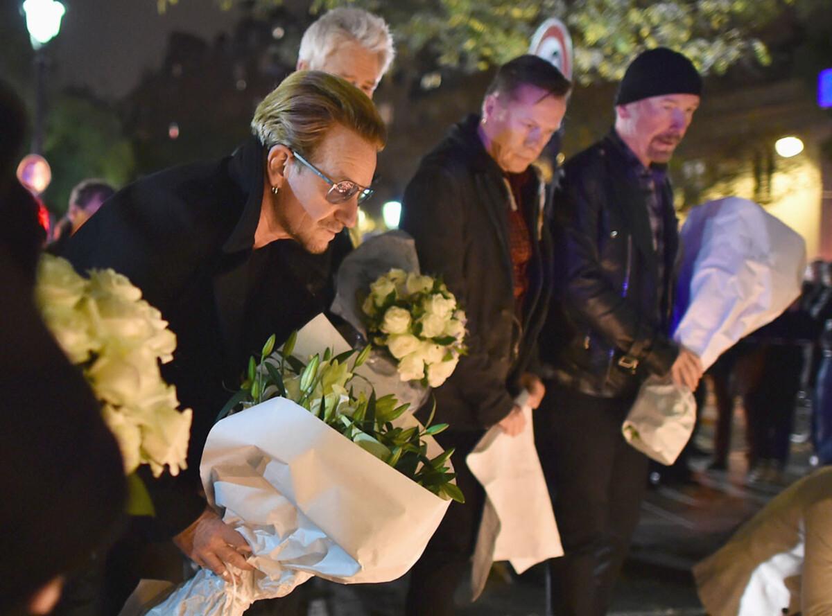 U2 и Foo Fighters отменили концерты в Париже из-за терактов