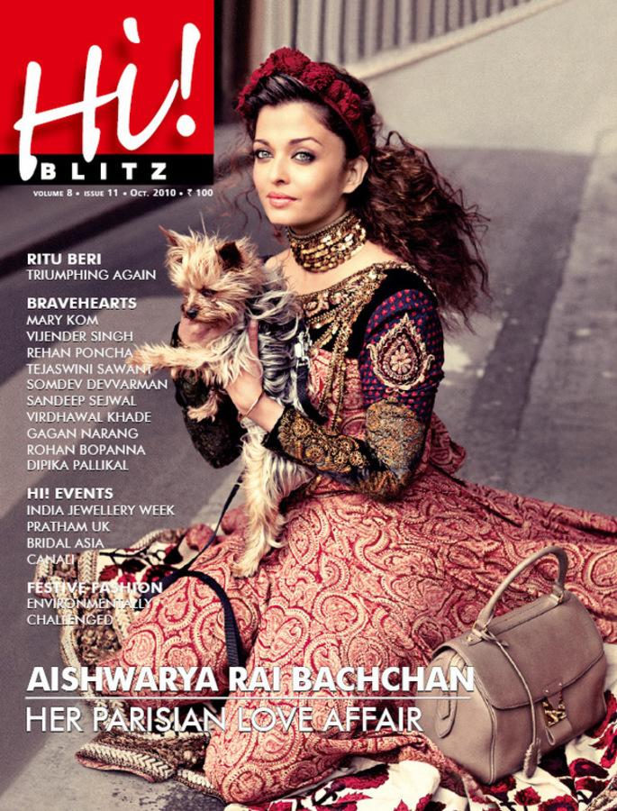 Айшвари Рай в парижском журнале Hi! Blitz