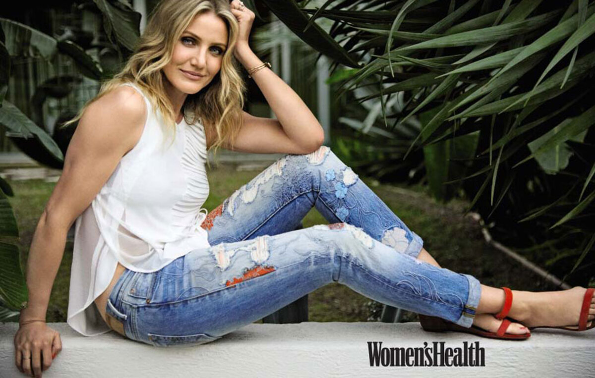 Камерон Диаз в журнале Women's Health. Апрель 2016