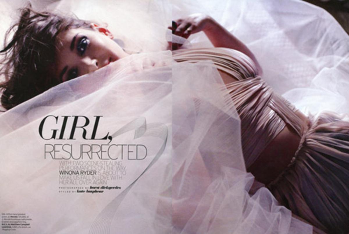 Вайнона Райдер в журнале Elle. Январь 2011