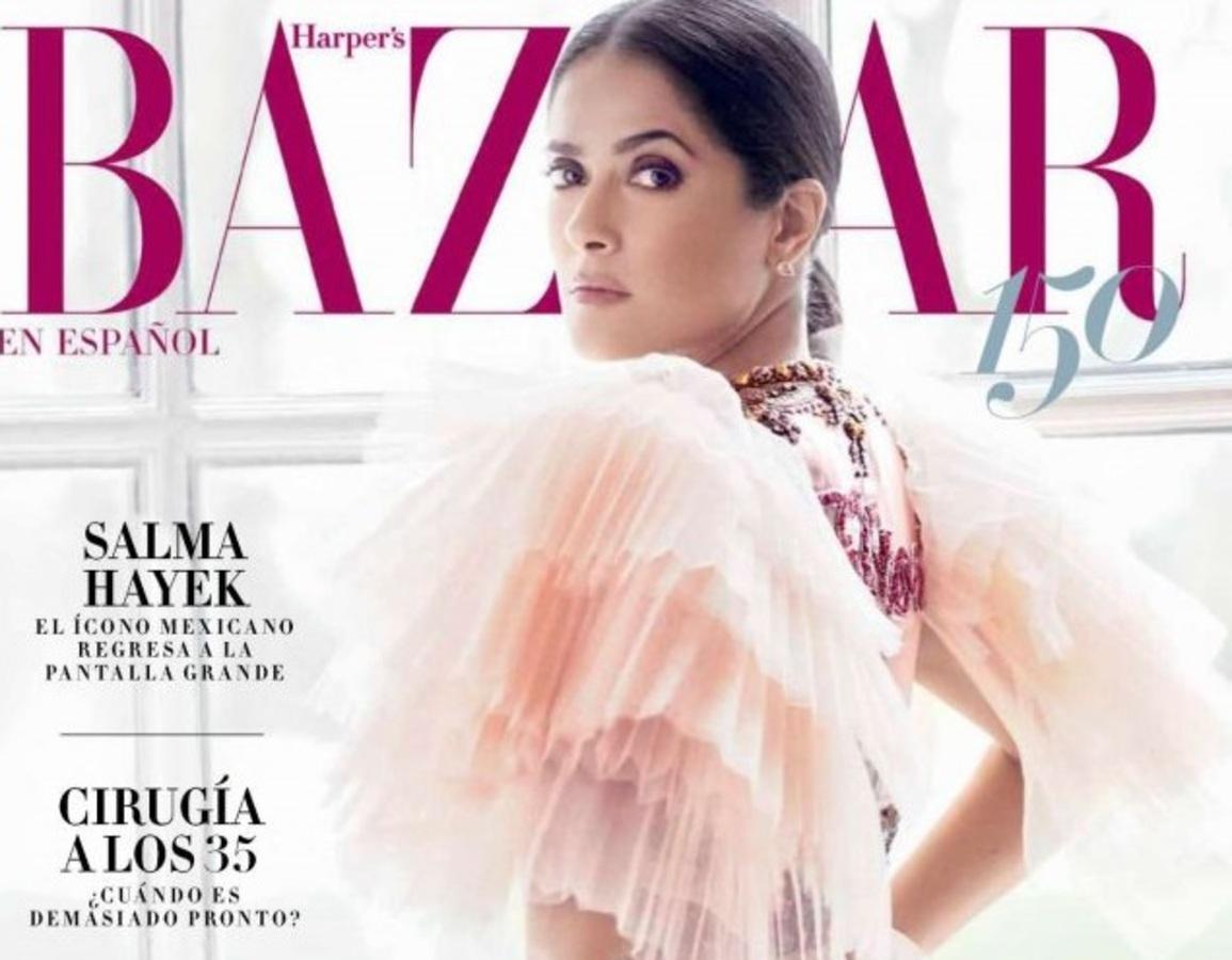 Сальма Хайек в фотосессии для апрельского Harper's Bazaar Mexico