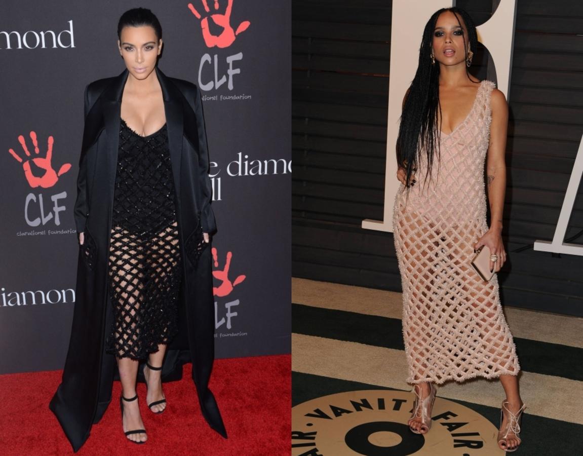 Fashion battle: Ким Кардашян и Зои Кравиц