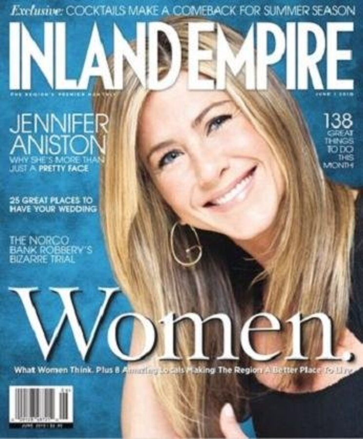 Дженнифер Энистон в Inland Empire Magazine. Июнь 2010