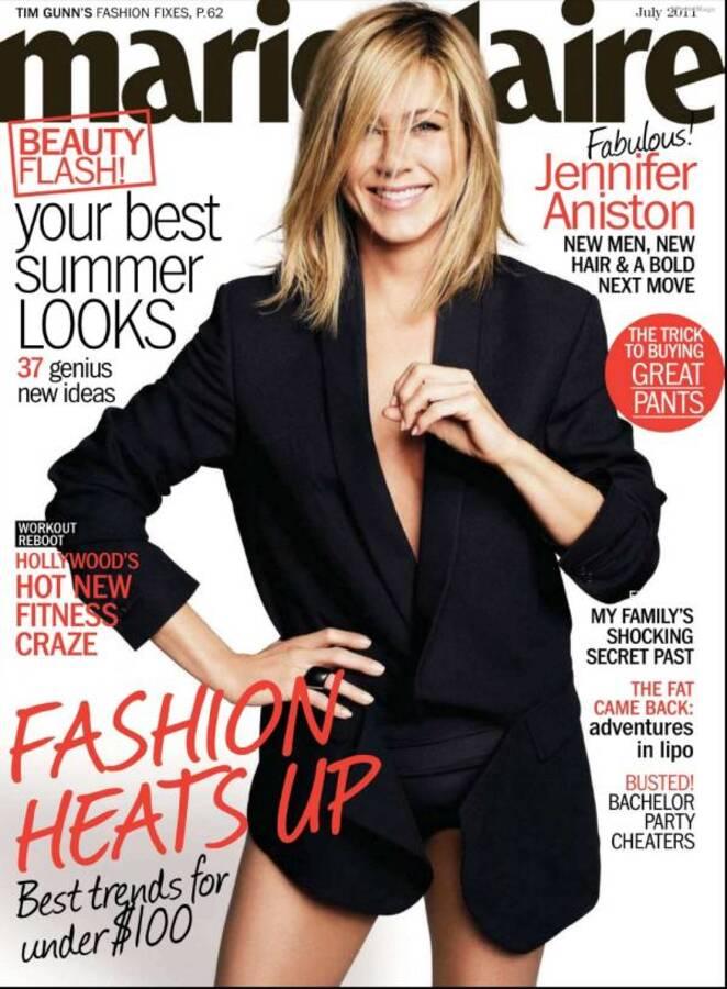 Дженнифер Энистон в журнале Marie Claire. Июль 2011