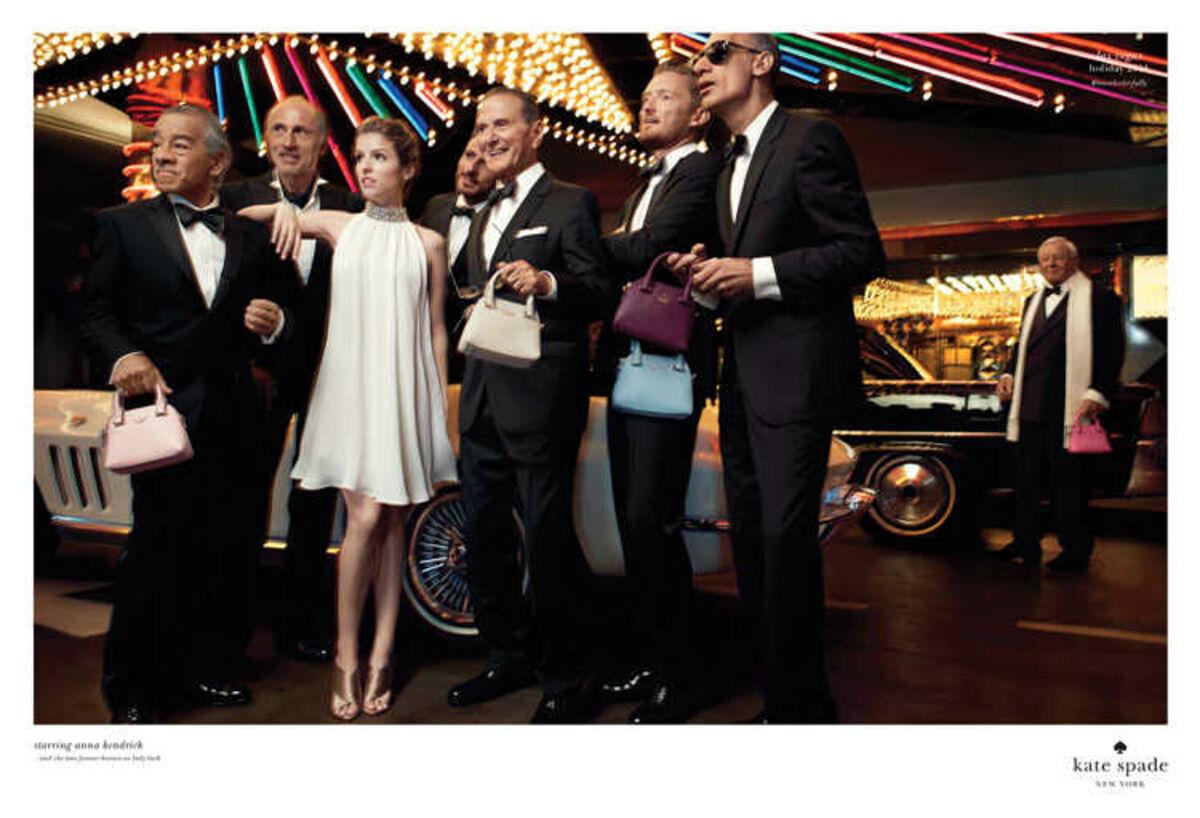 Анна Кендрик в праздничной рекламной кампании Kate Spade 2014
