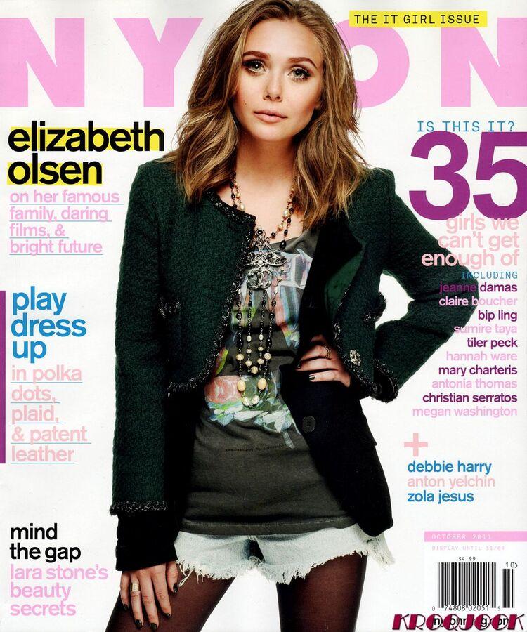 Элизабет Олсен в журнале Nylon. Октябрь 2011