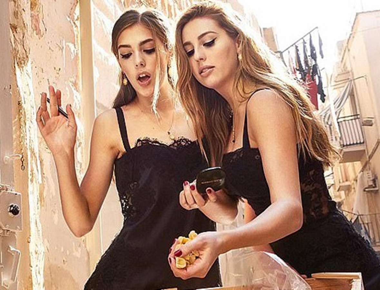 Дочери Сильвестра Сталлоне снялись в рекламной кампании Dolce & Gabbana
