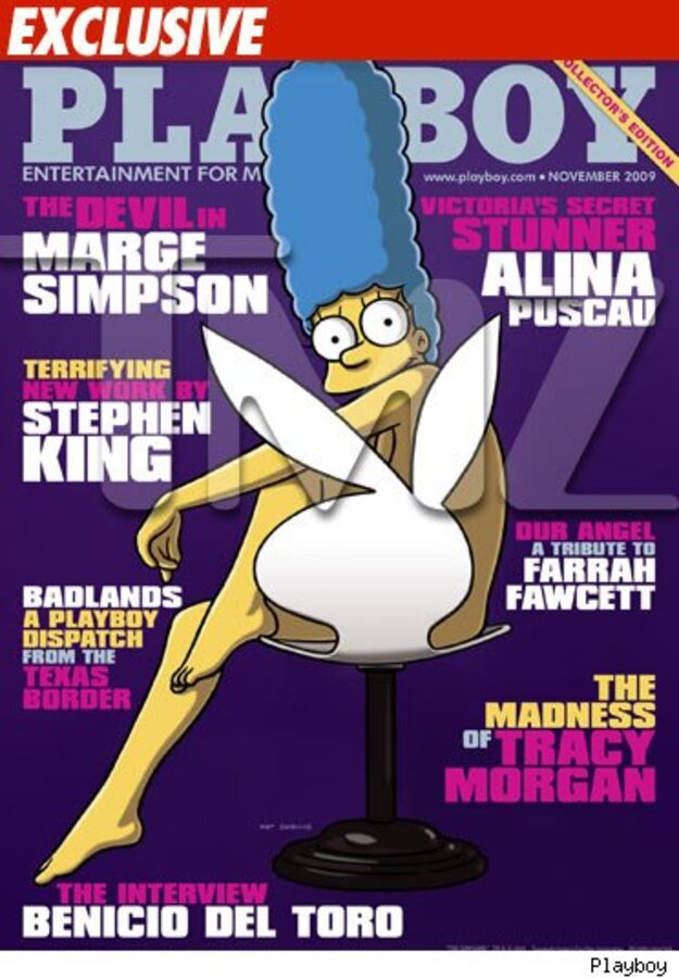 Мардж Симпсон разденеться для Playboy
