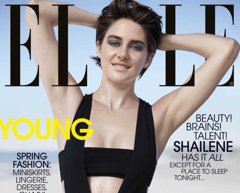 Updated: Шейлин Вудли в журнале Elle. Апрель 2015