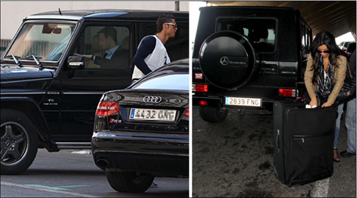 Криштиану Роналду и Ким Кардашян на свидании в Мадриде