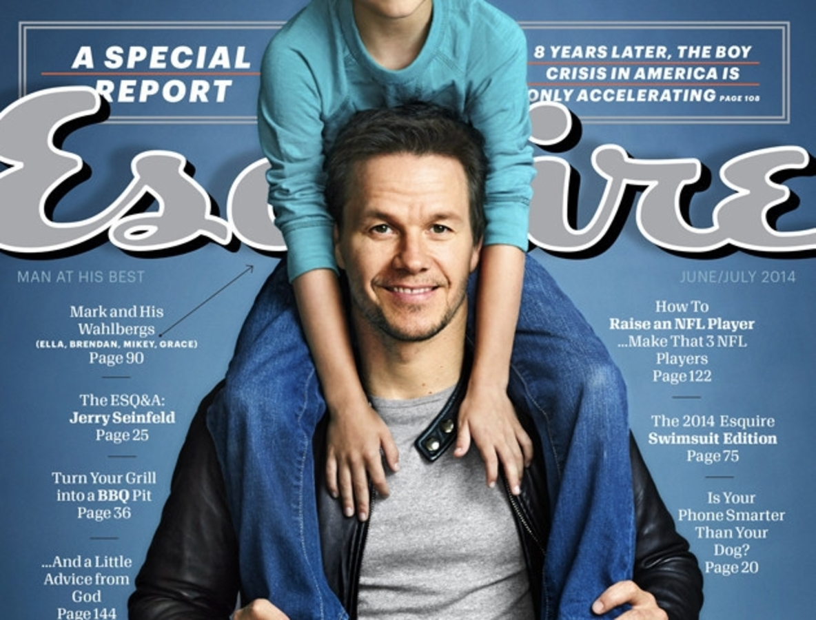 Марк Уолберг в журнале Esquire. Июнь / июль 2014