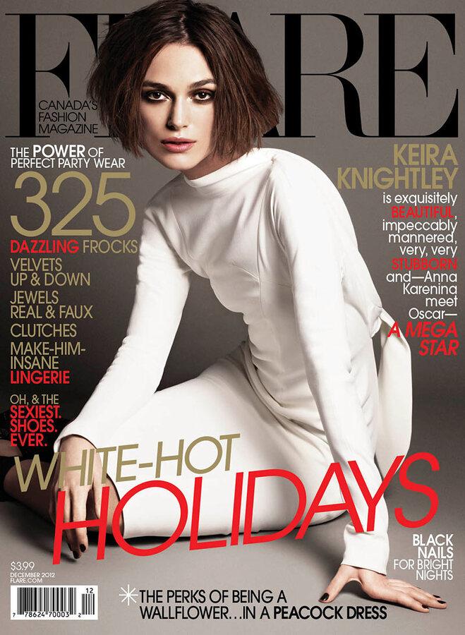 Кира Найтли в журнале Flare. Декабрь 2012