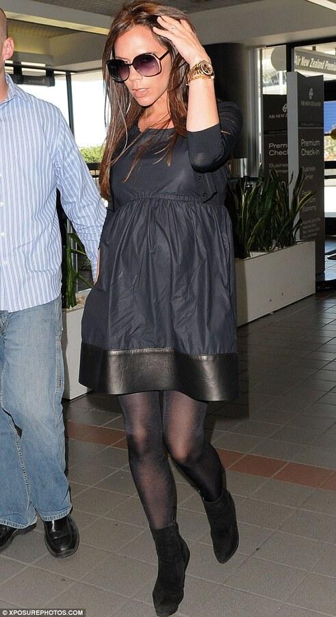 Виктория Бэкхем в аэропорту Лос-Анджелеса