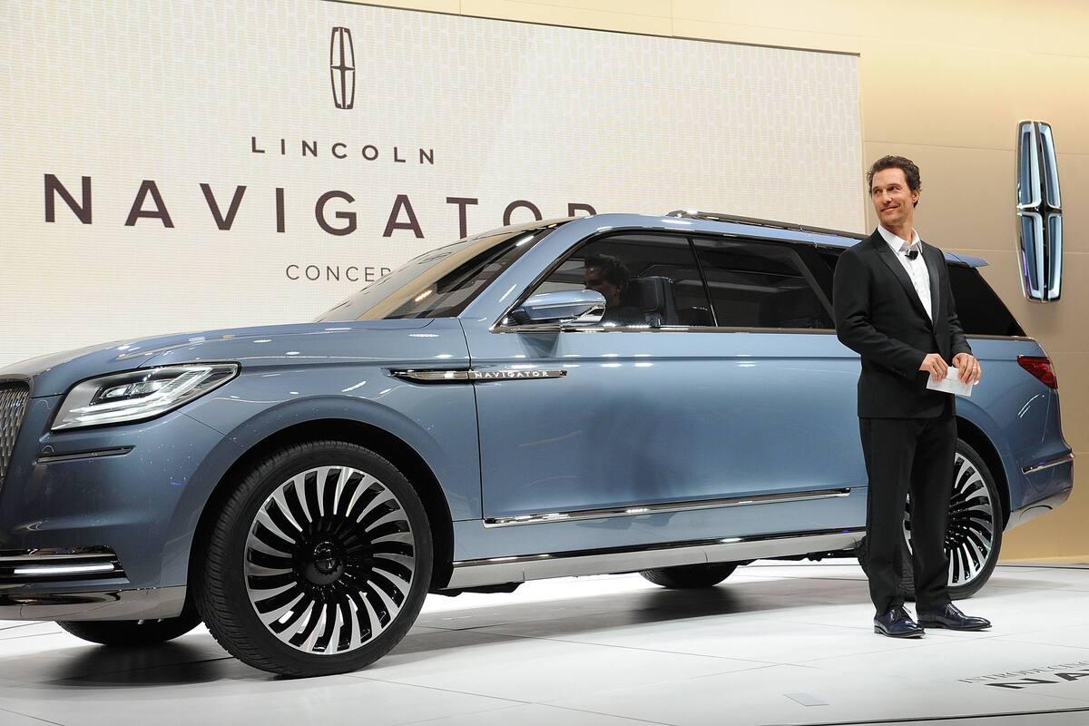 Мэттью МакКонахи на презентации нового автомобиля Lincoln Navigator в Нью-Йорке