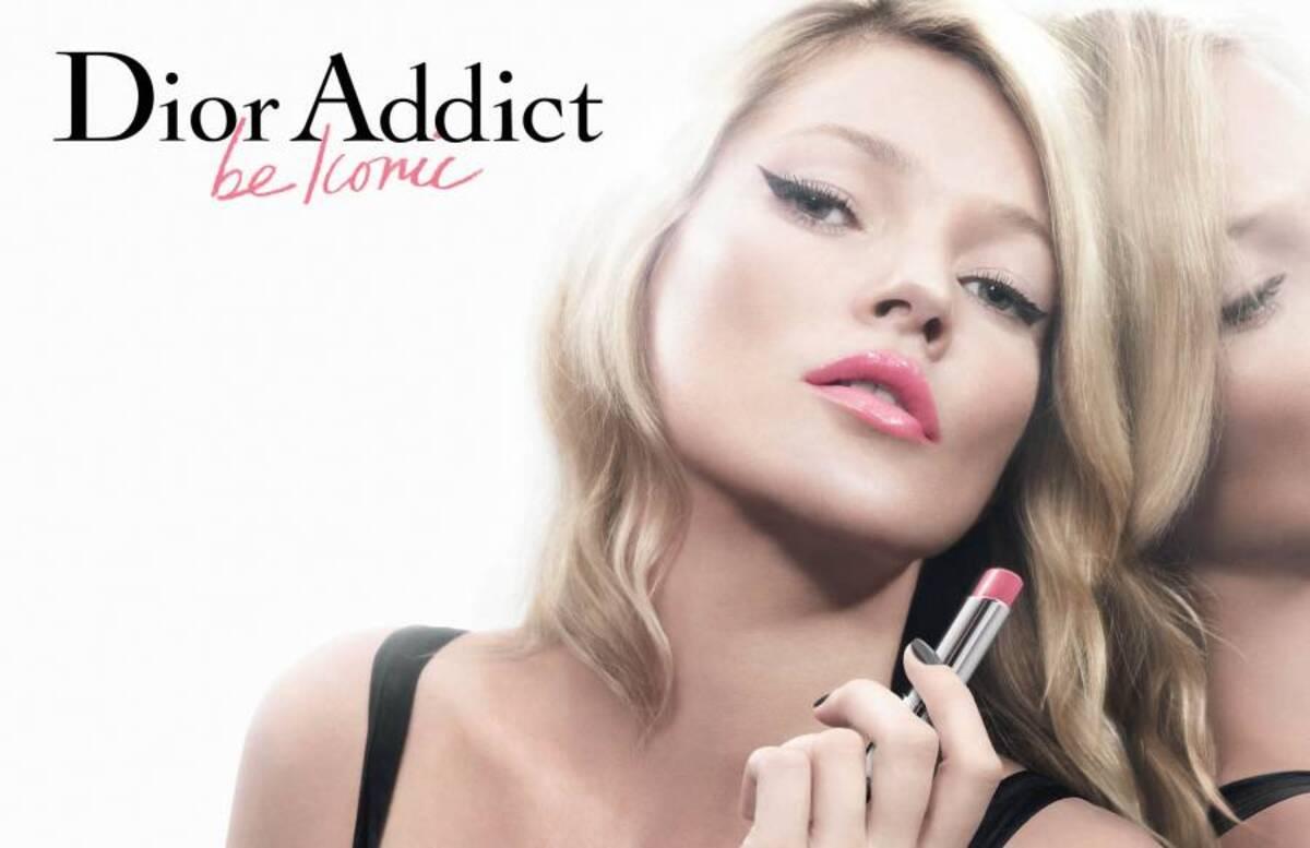 Кейт Мосс в рекламе Dior Addict