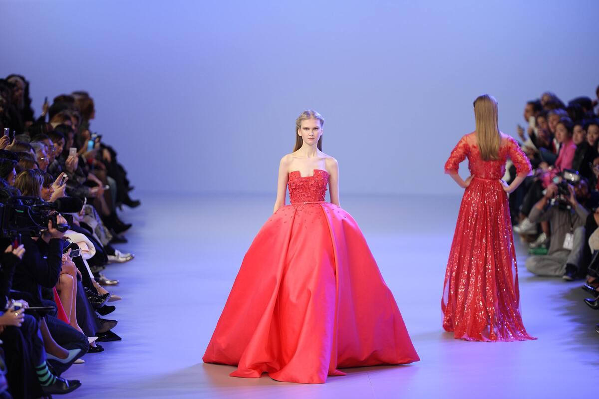 Модный показ Elie Saab Haute Couture. Весна / лето 2014