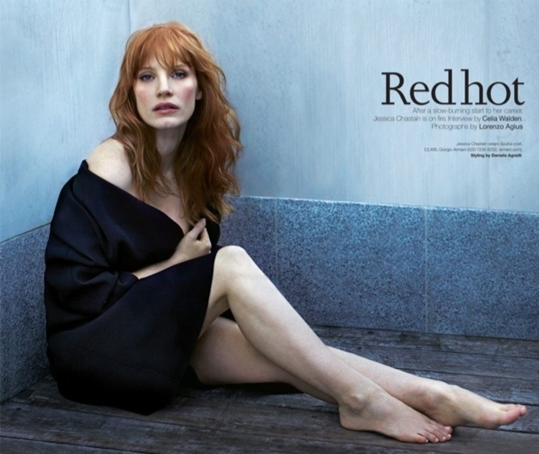 Джессика Честейн в журнале Telegraph. Февраль 2015