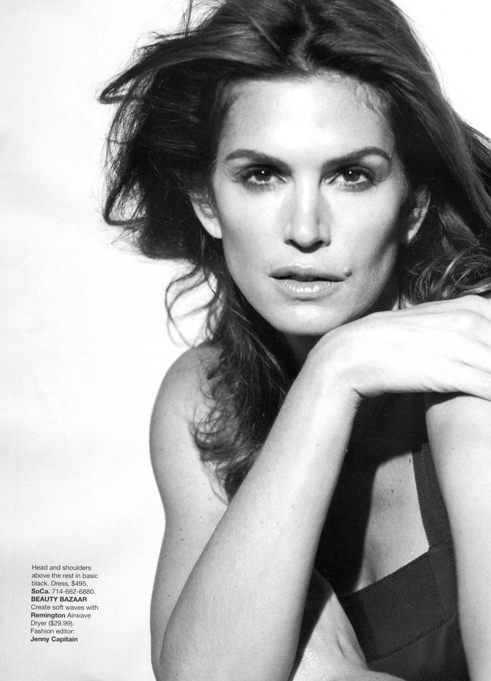 Синди Кроуфорд в журнале Harper's Bazaar. Апрель 2009