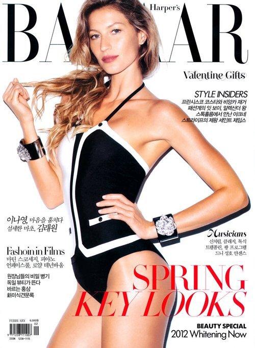 Жизель Бундхен в журнале Harper's Bazaar Корея. Февраль 2012