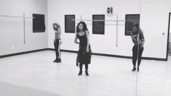 Видео: Селена Гомес на репетиции