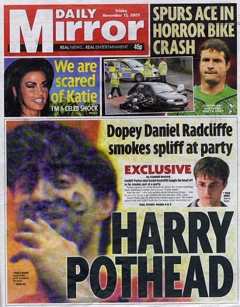 Дэниел Рэдклифф курит марихуану