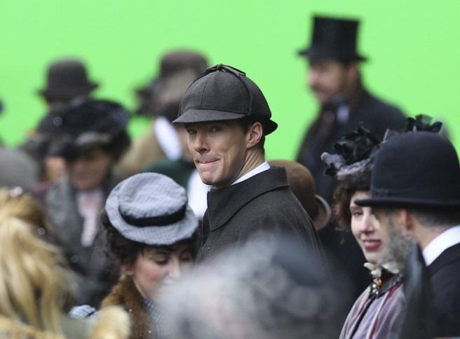 Кадры со съемок рождественской серии «Шерлока»