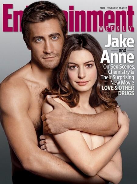 Джейк Джилленхол и Энн Хэтэуэй на обложке журнала EW