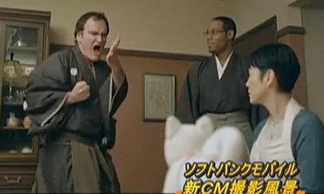 Квентин Тарантино в рекламе Softbank
