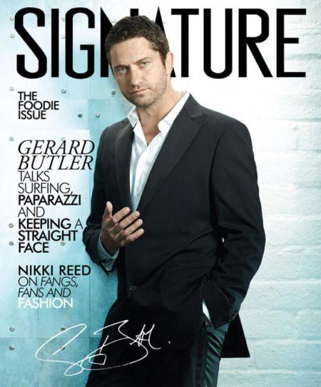 Джерард Батлер для журнала  Signature. Декабрь 2009