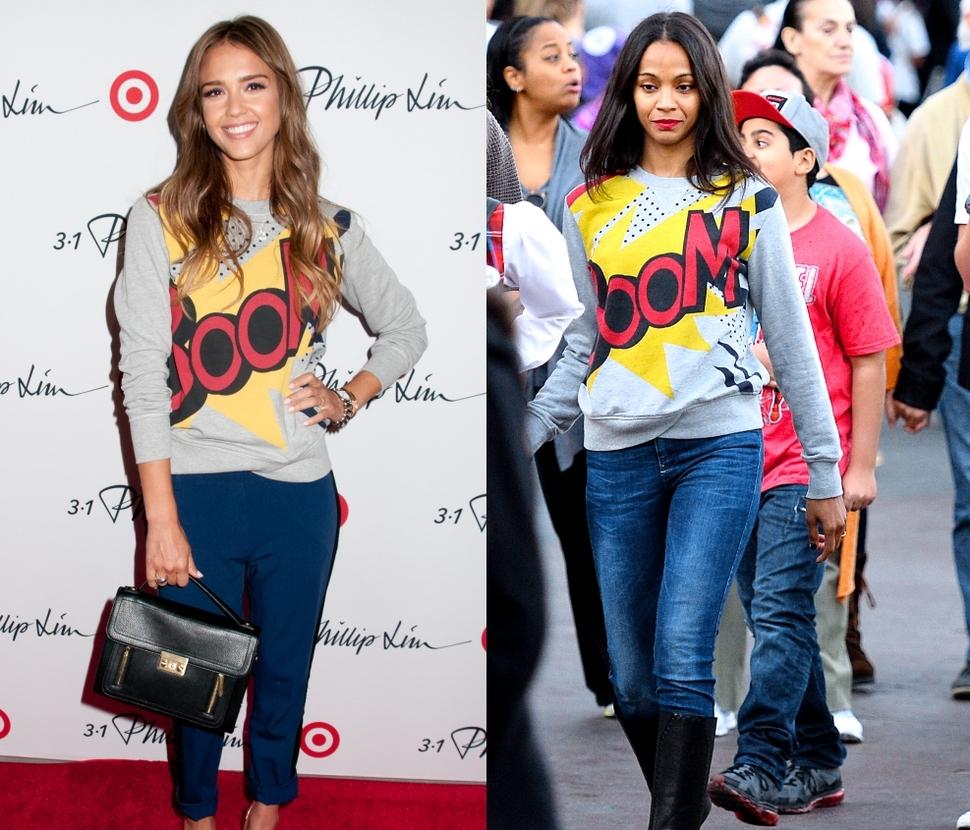 Fashion battle: Джессика Альба и Зои Салдана