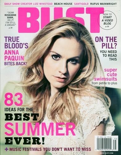 Анна Пакуин в журнале Bust. Июнь / июль 2012