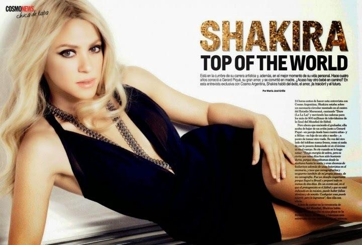Шакира в журнале Cosmopolitan Аргентина. Август 2014