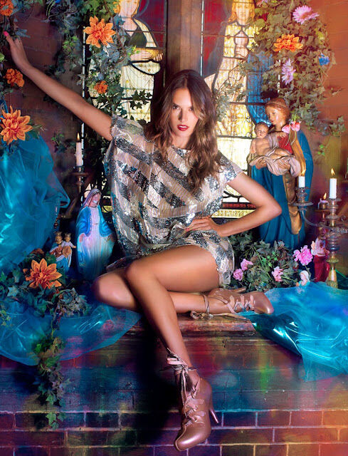 Алессандра Амбросио в рекламной кампании обуви Melissa. Весна / лето 2012