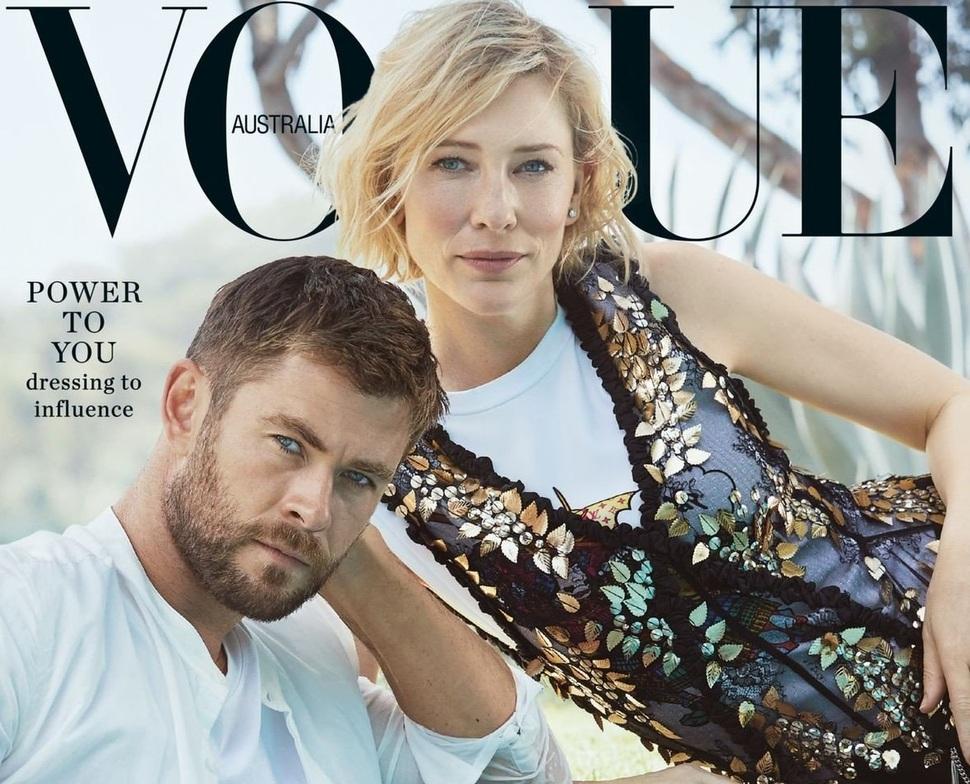 Кейт Бланшетт и Крис Хемсворт украсили обложку австралийского Vogue