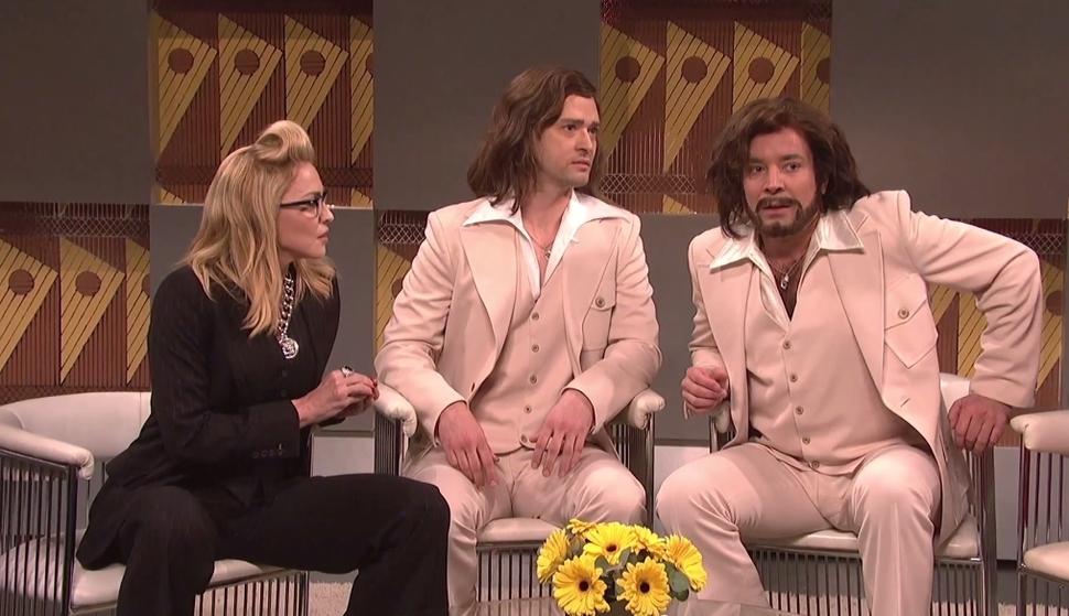 Джастин Тимберлейк и Джимми Фэллон на шоу Saturday Night Live